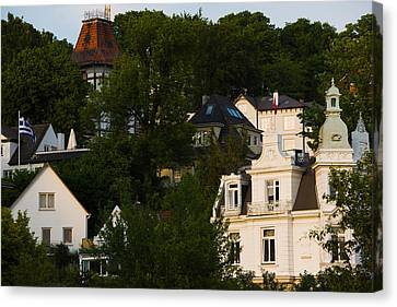 Villas On A Hill, Blankenese, Hamburg Canvas Print by Panoramic Images