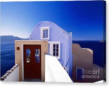 Villas Overlooking The Aegean Sea Canvas Print