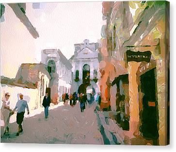Vilnius Old Town 10 Canvas Print by Yury Malkov