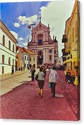Vilnius Old Town 12 Canvas Print by Yury Malkov