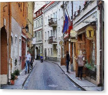 Vilnius Old Town 37 Canvas Print by Yury Malkov