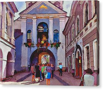 Vilnius Old Town Golden Gate 2 Canvas Print by Yury Malkov