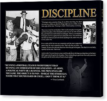 Vince Lombardi Discipline Canvas Print by Retro Images Archive