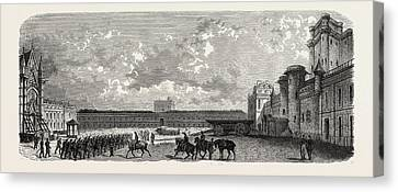 Vincennes. Castle Courtyard From The South Canvas Print