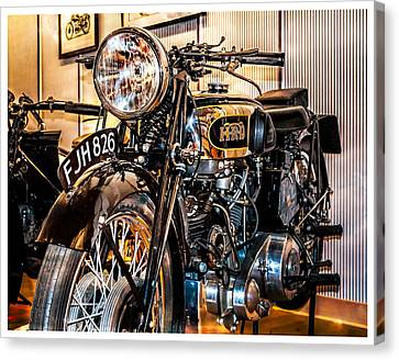 Canvas Print featuring the photograph Vincent Hrd by Steve Benefiel