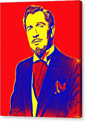 Vincent Price Canvas Print by Art Cinema Gallery