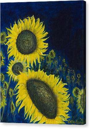 Canvas Print featuring the painting Vincent Remembered by Cathy Long