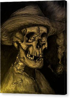 Vincent Van Ghost Canvas Print by Jose A Gonzalez Jr