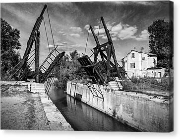 Canvas Print featuring the photograph Vincent Van Gogh Bridge by Richard Wiggins