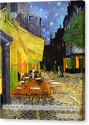 Vincent Van Gogh Quotes 2 Canvas Print by Andrew Fare