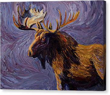 Vincent Van Moose Canvas Print by Mary Giacomini