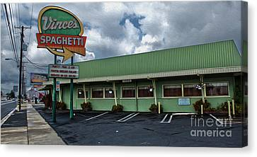 Vinces Speghetti Canvas Print by Gregory Dyer