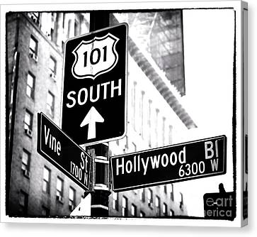 Vine And Hollywood Canvas Print by John Rizzuto