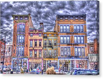 Canvas Print featuring the photograph Vine Street by Daniel Sheldon