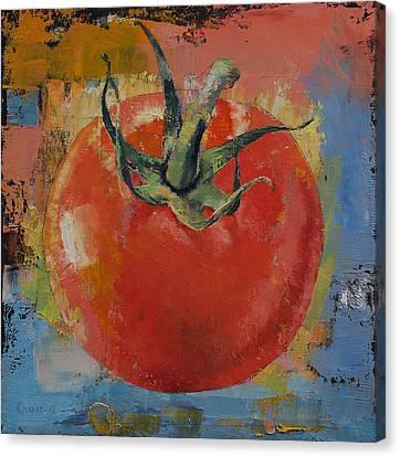 Vine Tomato Canvas Print by Michael Creese