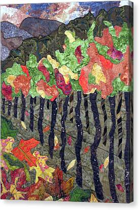 Vineyard In Autumn Canvas Print by Lynda K Boardman