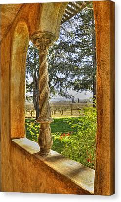 Vineyard View Canvas Print by Wendy Elliott
