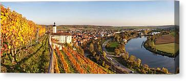 Winemaking Canvas Print - Vineyards Around A Castle, Horneck by Panoramic Images