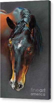 Vinnie Mustang Love Canvas Print by Frances Marino