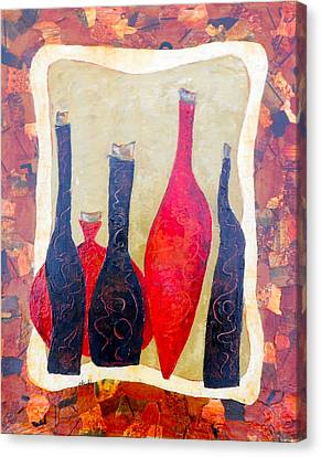 Vino 1 Canvas Print by Phiddy Webb