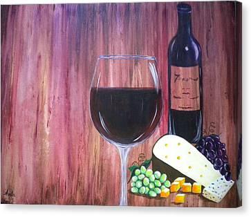 Vino Canvas Print by Abigail Avila
