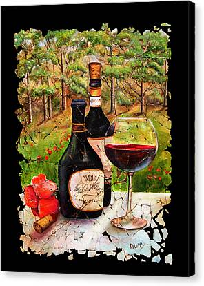 Vino Canvas Print by Lena  Owens OLena Art