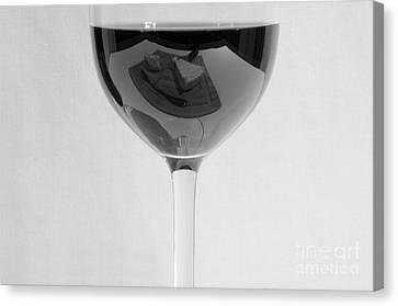 Vino Reflections 2 Canvas Print by John Debar