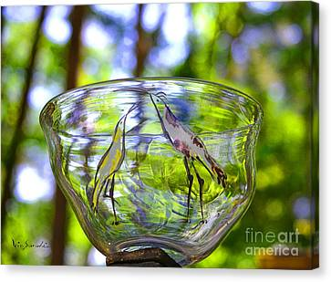 Vinsanchi Glass Art-4 Canvas Print by Vin Kitayama