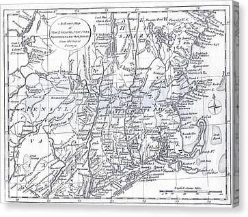 Cape Cod Canvas Print - Vintage 1778 New England Map by Dan Sproul