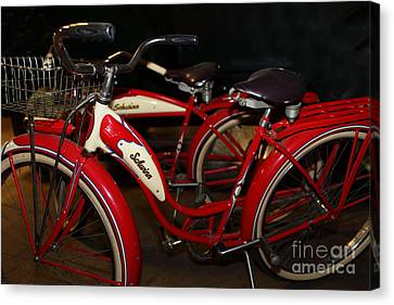 Vintage 1941 Boys And 1946 Girls Bicycle 5d25760 Canvas Print