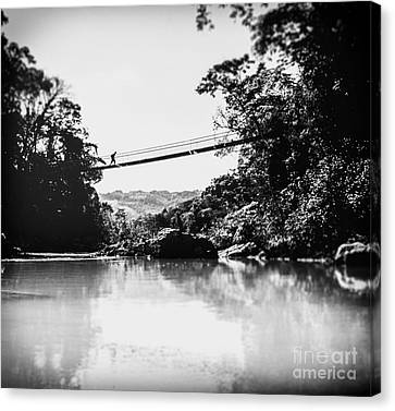 Vintage Adventure Black And White Canvas Print
