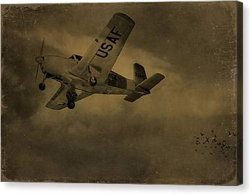 Vintage Air Force Flight World War Two Canvas Print by Dan Sproul