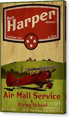 Vintage Air Mail Service Canvas Print