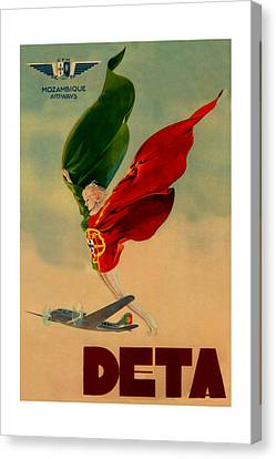 Vintage Airline Ad 1939 Canvas Print by Andrew Fare