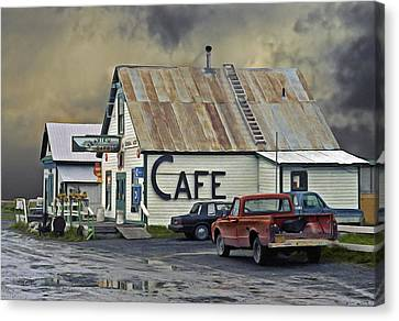Grocery Store Canvas Print - Vintage Alaska Cafe by Ron Day