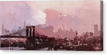 Vintage America Brooklyn 1930 Canvas Print by Steve K