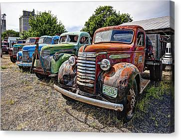 Vintage American Truck Lineup Canvas Print