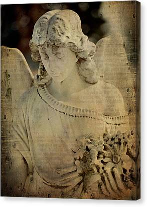 Vintage Angel Collage Canvas Print by Gothicrow Images