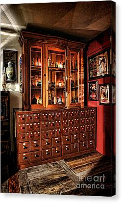 Drugstore Canvas Print - Vintage Apothecary Case by Olivier Le Queinec