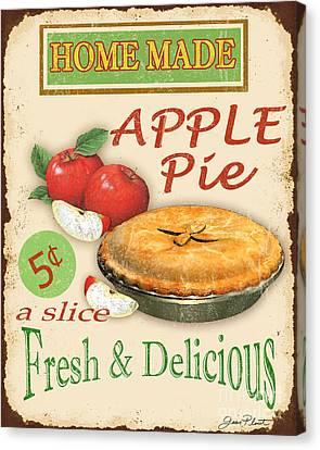 Vintage Apple Pie Sign Canvas Print by Jean Plout