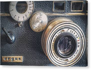Classic Camera Canvas Print - Vintage Argus C3 35mm Film Camera by Scott Norris