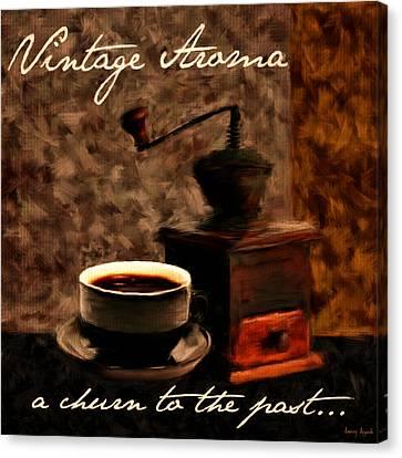 Vintage Aroma Canvas Print by Lourry Legarde