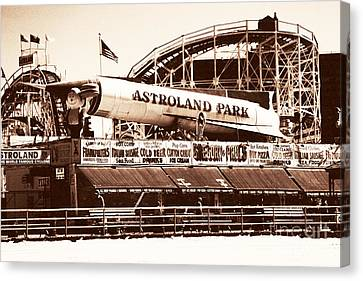 Vintage Astroland Park Canvas Print by John Rizzuto