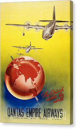 Vintage Australia Travel Poster Canvas Print by Jon Neidert