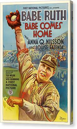 Vintage Babe Comes Home Movie Poster Canvas Print by Mountain Dreams