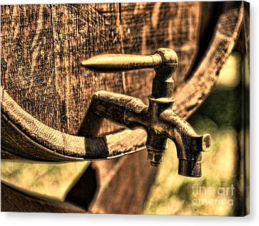 Vintage Barrel Tap Canvas Print by Paul Ward