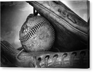 Vintage Baseball And Glove Canvas Print