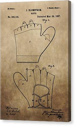 Vintage Baseball Glove Patent Canvas Print by Dan Sproul