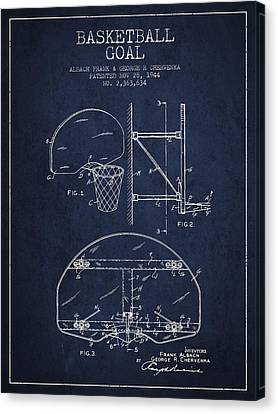 Nba Drawings Canvas Print - Vintage Basketball Goal Patent From 1944 by Aged Pixel