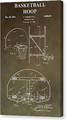 Vintage Basketball Hoop Patent Canvas Print by Dan Sproul
